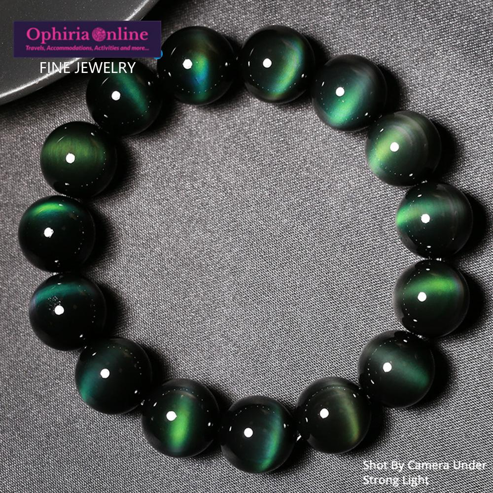 Green Eye Obsidian Healing Bracelet
