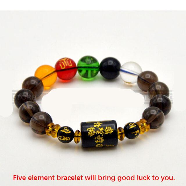 5-Elements God of Wealth and Good Luck Bracelet